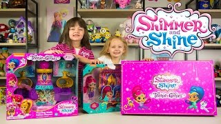 HUGE Shimmer and Shine Teenie Genies Surprise Box Palace Playset Girls Flying Carpet Kinder Playtime