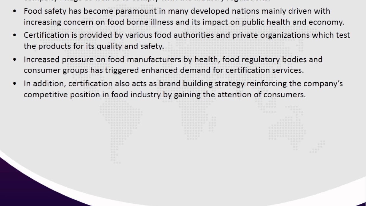 Food Certification Market Forecast 2016 2021 Youtube