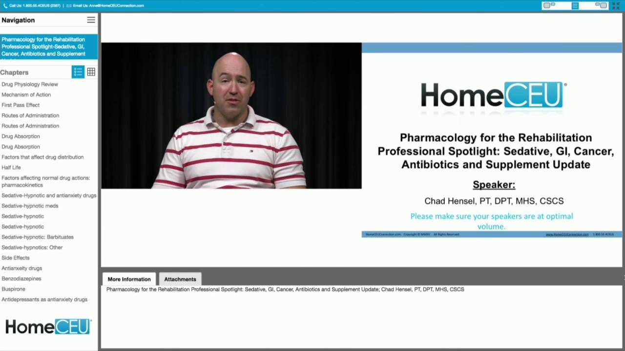 Pharmacology for the Rehabilitation Professional Spotlight: Sedative