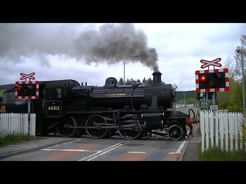 Spoorwegovergang Aviemore (UK) // Railroad crossing // Level crossing