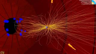LHC collision event at CMS showing two photons -- 8 TeV (CMS Higgs search) Thumbnail
