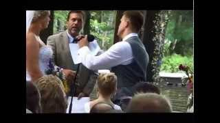 Groom makes guests sob with his vows to new stepdaughter