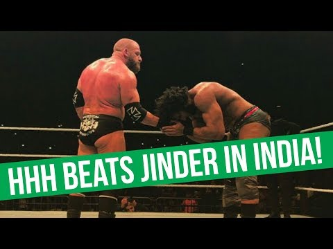 HHH Defeats Jinder Mahal Clean In India | Neville Return Talks Stalled