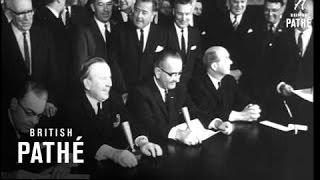 Lester Pearson Visits President Johnson (1964)