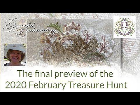 The final preview of machine embroidery designs in the 2020 Treasure Hunt pt 5