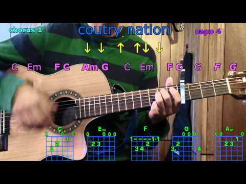 country nation brad paisley  guitar chords