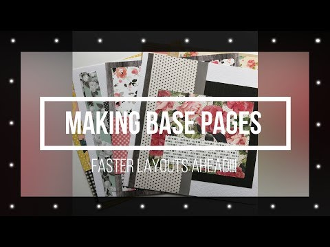 Making Base Pages For Scrapbook Layouts