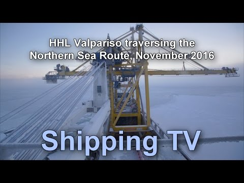 HHL Valpariso traversing the Northern Sea Route, November 2016.