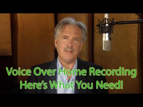 Home Voice Over Recording Studio--Cheap! What You Really Need