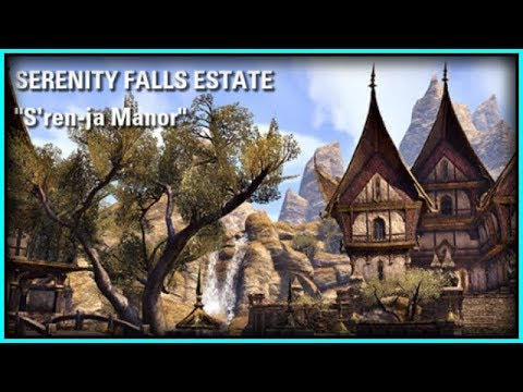 ESO Room Tours! SERENITY FALLS ESTATE PLAYER HOUSES from Legendary Lindsay! Housing Homestead