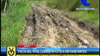 En Delta Amacuro más de 500 habitantes denuncian un mes sin agua