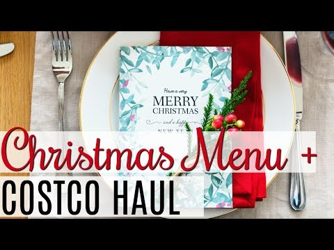 Christmas Dinner Menu Recipes and Grocery Haul 2017