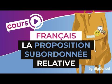 Cours de français sur la proposition subordonnée relative