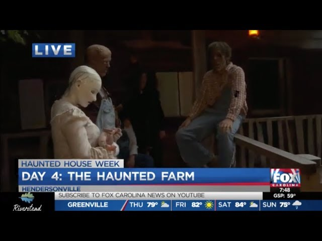 The Haunted Farm 2019 | Joe Gagnon of Fox Carolina News Meets The Livelys