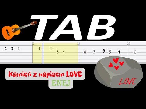 🎸 Kamień z napisem love (Enej) - melodia TAB (gitara) 🎸