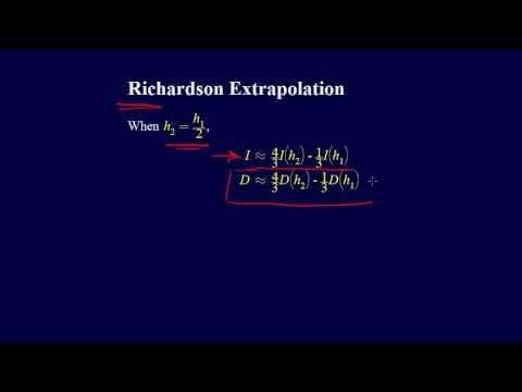 6.3.5-Numerical Differentiation: Richardson Extrapolation