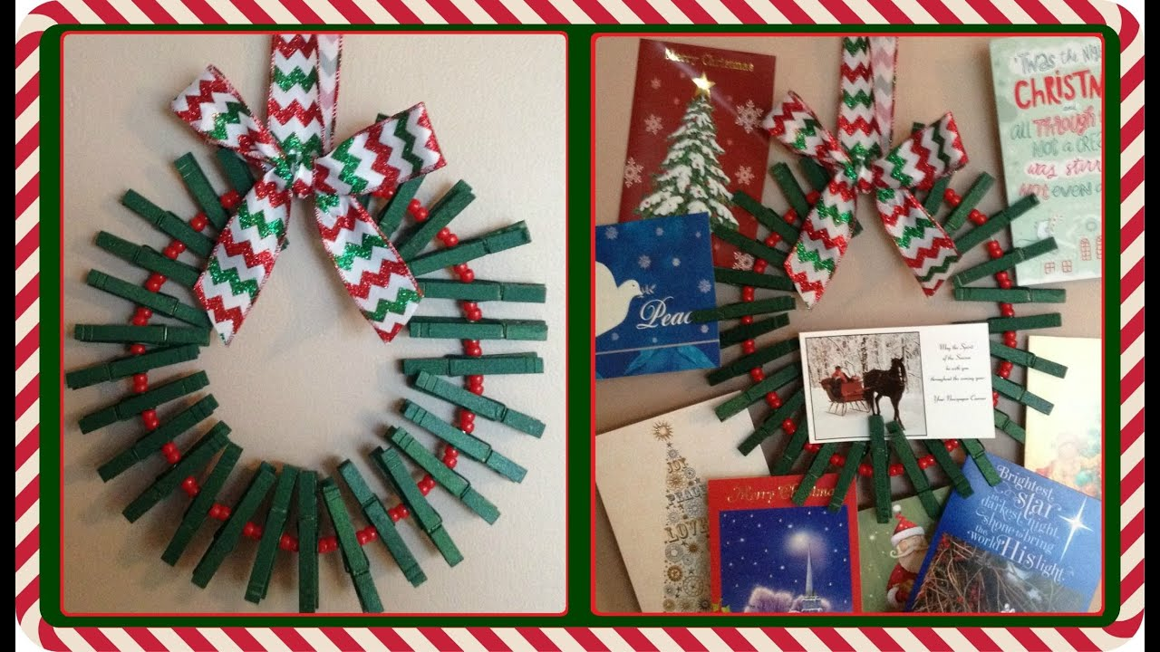Beautiful DIY Card Holder Wreath   YouTube