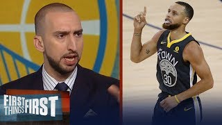 Nick Wright's Game-3 expectations for Warriors' Steph Curry in Cleveland | NBA | FIRST THINGS FIRST