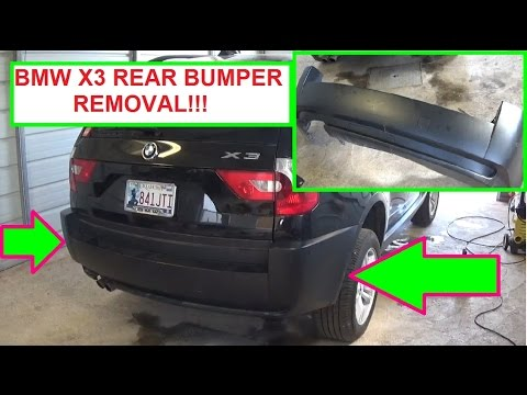 bmw rear bumper replacement  BMW x3 E83 Rear Bumper Removal and Replacement in 5 MINUTES!!! - YouTube