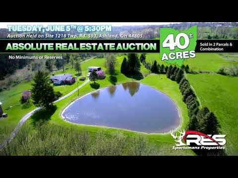 Absolute 40+/- Acre Ashland County Land Auction