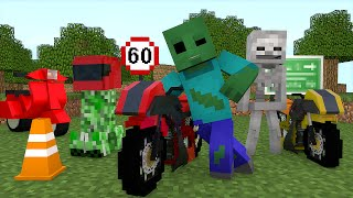 Minecraft Escola Monstro #61 - Treino de Motos  !! Monster School