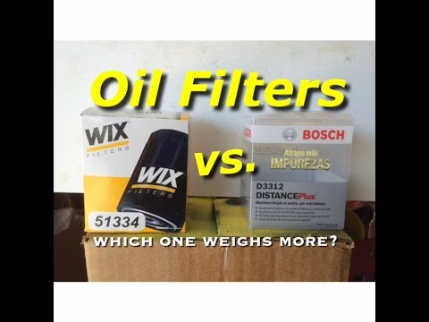 Wix vs Bosch - Comparrison Wix vs. Bosch Oil Filter - Which One Weighs More - Bundys Garage