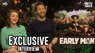 Maisie Williams & Tom Hiddleston | Early Man (Aardman) Exclusive Interview