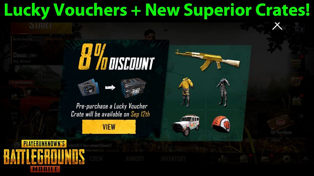 New Superior Crates + Lucky Crate Coupons for PUBG Mobile 0 8 0 - SO MUCH  TO COVER | DerekG