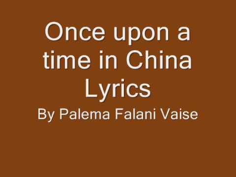 Once upon a time china lyrics