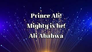 Prince ali (lyrics)