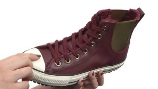 Converse Chuck Taylor® All Star® Leather + Fur Chelsea Boot SKU:8752173