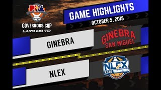 PBA Governors' Cup Highlights: Ginebra vs NLEX Oct 5, 2018