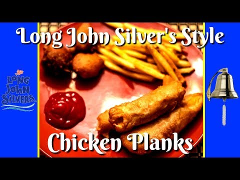 How To Make LONG JOHN SILVERS Chicken Planks At HOME!