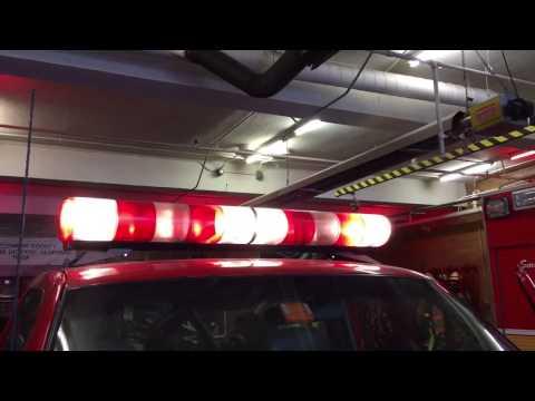 Federal Signal Aerodynic Candy Cane Lightbar w/ Mars Lights