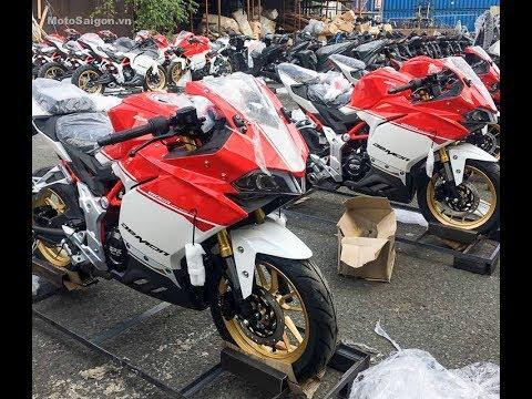 GPX Demon 150GR cao cấp màu trắng đỏ giá 64 triệu đã về VN