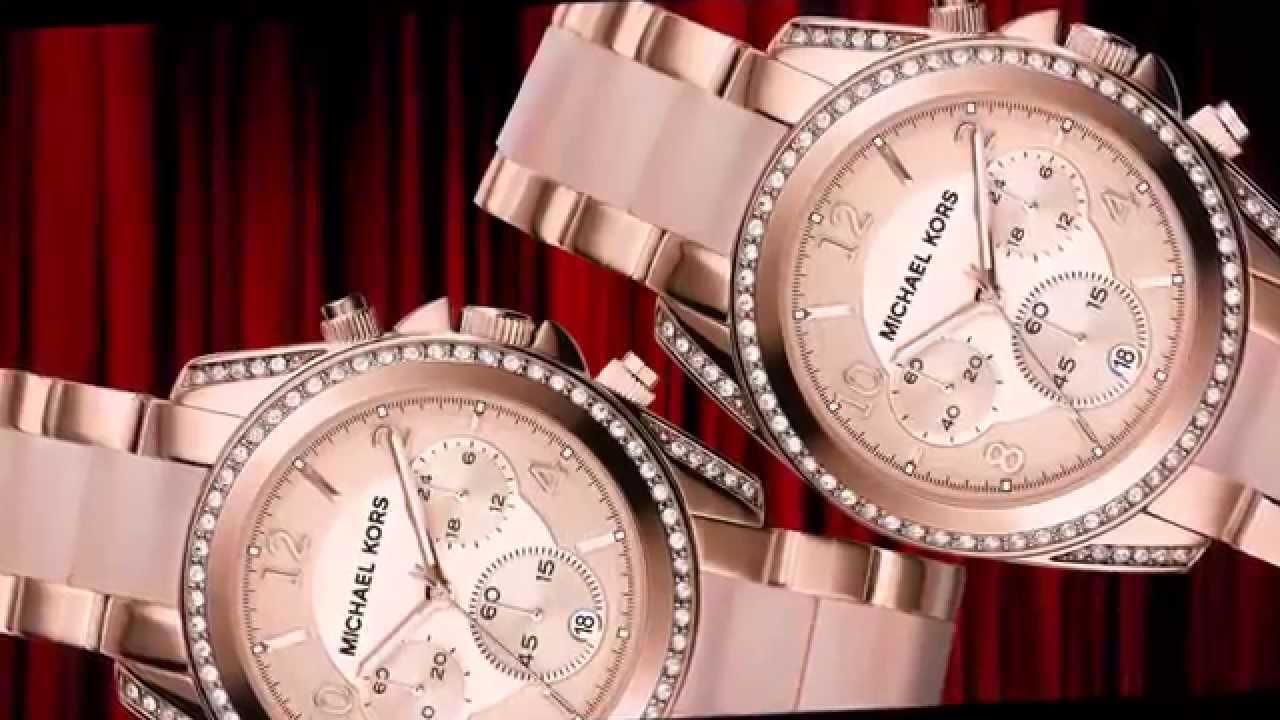 44e5cb722428 Michael Kors Women s Chronograph Blair Blush and Rose Gold-Tone Stainless S  Bracelet Watch MK5943
