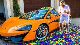I Filled brawadis Mclaren with 10,000 Balls & THIS WAS HIS REACTION...