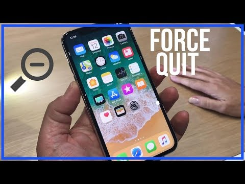 How to stop background apps in iphone x
