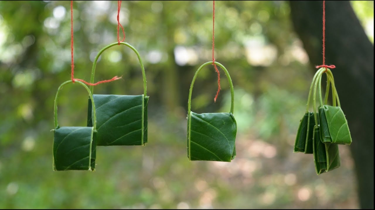 Make amazing mango leaf Bags | Kids will love this - YouTube
