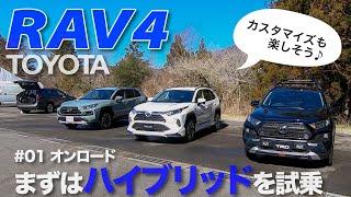 TOYOTA トヨタ RAV4 内外装&走行性能(ハイブリッド)をチェック E-CarLife with YASUTAKA GOMI 五味やすたか