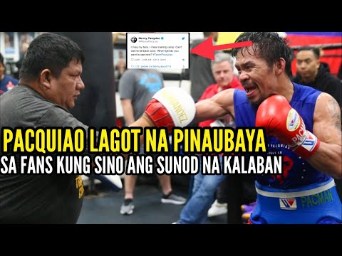 MANNY PACQUIAO ASK FANS WHO HE SHOULD FIGHT NEXT