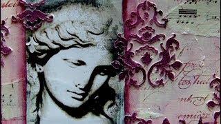 6 x 6 Challenge - Damask - #ArtfulEvidence