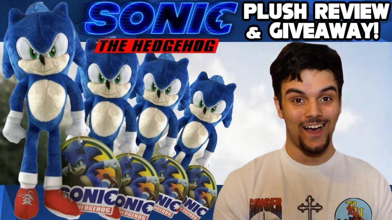 Sonic The Hedgehog Movie 2020 Toy Factory Plush Review Giveaway Youtube