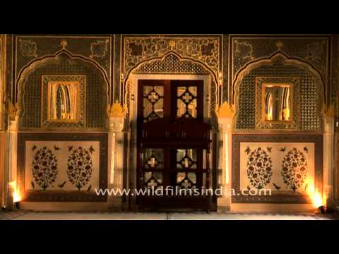Exquisite royal interiors of Samode Palace, Jaipur