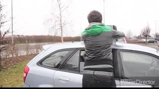 Приколы про машины| очень сильный гудок на машине ;)