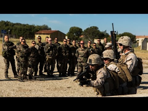 French Foreign Legion & U.S. Marines MOUT Training (Footage)