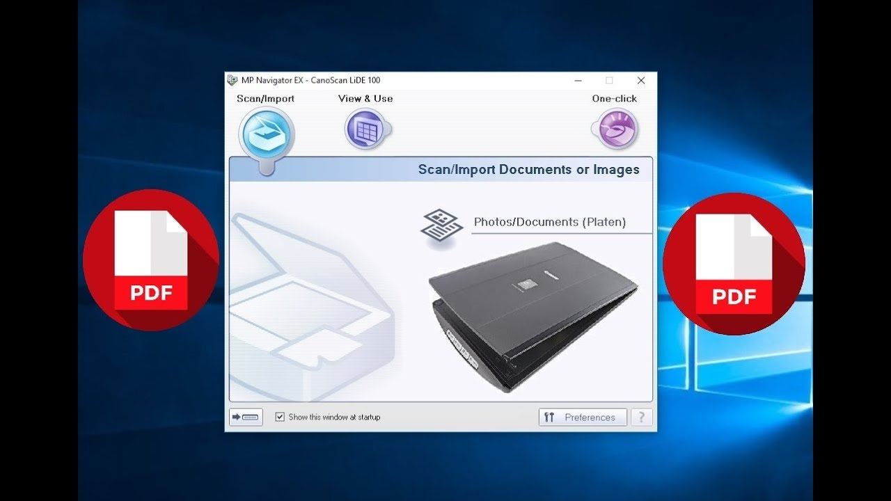 canoscan lide 100 scanner software free download
