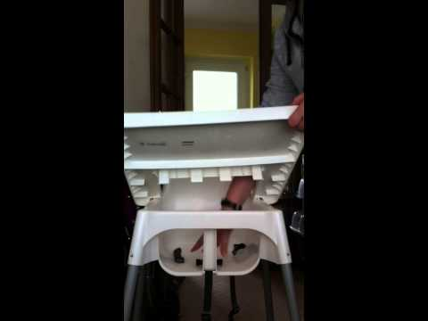 How to remove the tray from the IKEA Antilop high chair