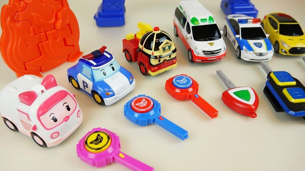 Robocar poli car toys and carbot power key youtube - Radio car poli ...