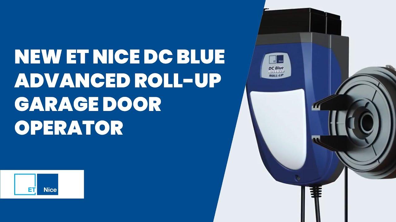 New Et Nice Dc Blue Advanced Roll Up Garage Door Operator